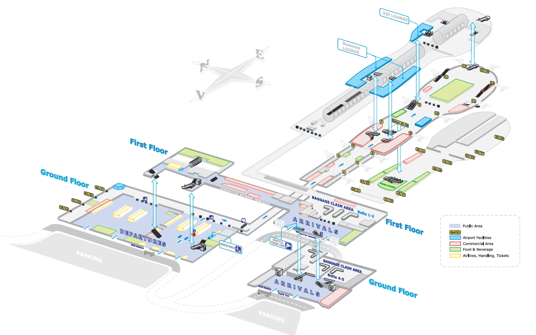 Схема аэропорта Бухареста